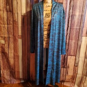 Lily by Firmiana Blue and Black 2X/3X Cardigan